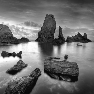 Port Coton Bw Photographic Print by Philippe Manguin