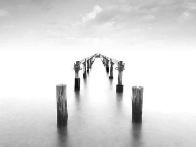 Infinite Pier Photographic Print by Marco Carmassi