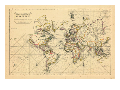 1703, World Giclee Print