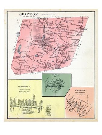 1892, Grafton, Franconia Town, Grafton Town, Grafton East, New Hampshire, United States Giclee Print