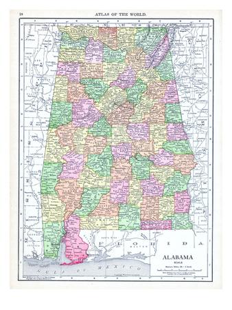 1913, United States, Alabama, North America Giclee Print