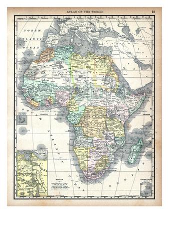 1890, Africa Giclee Print