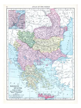 1913, Albania, Austria, Bulgaria, Croatia, Greece, Montenegro, Romania, Russia, Serbia, Slovenia Giclee Print