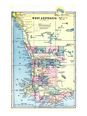 1898, Australia, West Australia Giclee Print