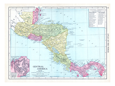 1913, Central America Giclee Print
