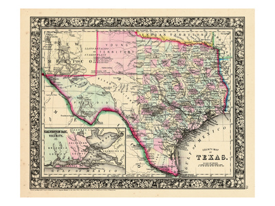 1864, Texas Mitchell Plate, Texas, United States Giclee Print