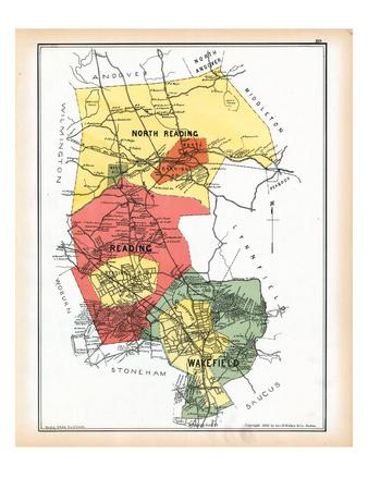 1889, Reading, Wakefield, Massachusetts, United States Giclee Print