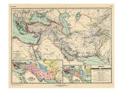 1898, 500 BC, Egypt, Libya, Armenia, Iran, Iraq, Saudi Arabia, Syria, Turkey, Jordan Giclee Print