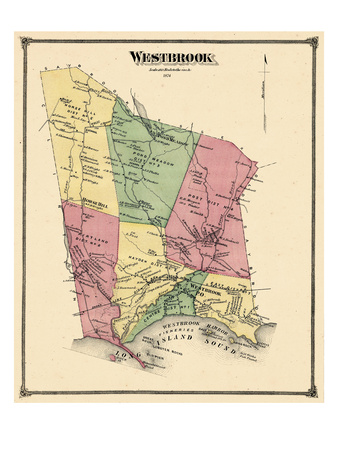 1874, Westbrook, Connecticut, United States Giclee Print