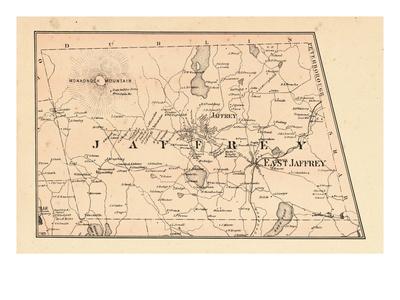 1877, Jaffrey Township, Monadnock Mountain, Long Pond, New Hampshire, United States Giclee Print