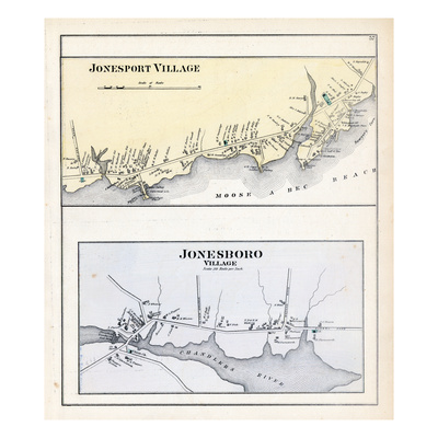 1881, Jonesport Village, Jonesboro Village, Maine, United States Giclee Print