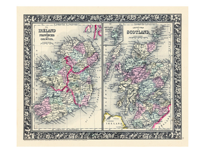 1864, Ireland, United Kingdom, Europe, Ireland, Scotland Giclee Print