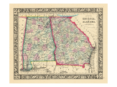 1864, Georgia and Alabama Mitchell Plate, Alabama, United States Giclee Print