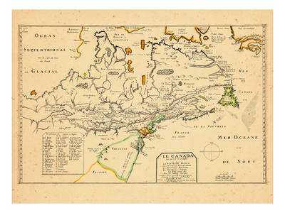 1653, Canada, Florida, Virginia Giclee Print