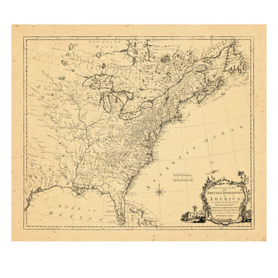 1763, British Dominions in America, United States, East Coast Giclee Print