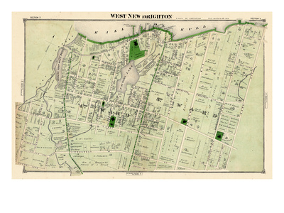 1874, West New Brighton, New York, United States, Staten Island Giclee Print
