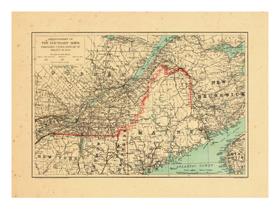 1915, Maine, New Brunswick, Quebec Giclee Print