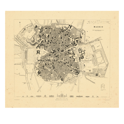 1831, Madrid, Spain Giclee Print