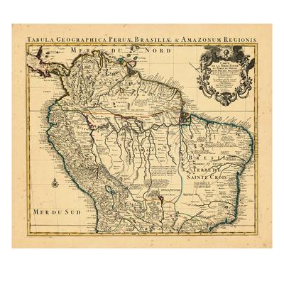 1730, Brazil, South America Giclée-tryk