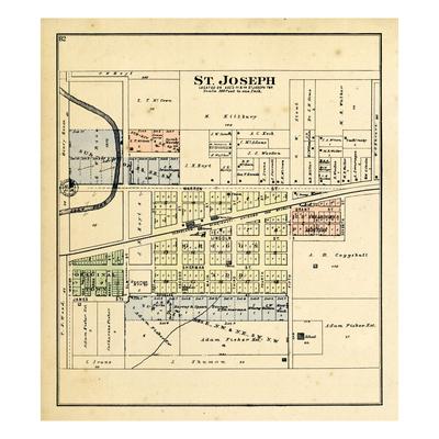 1893, St. Joseph, Illinois, United States Giclee Print