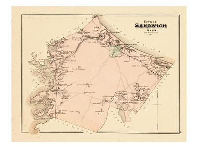 1880, Sandwich Town, Massachusetts, United States Giclee Print