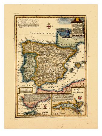 1748, Portugal, Spain Giclee Print