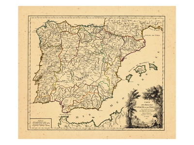 1757, Portugal, Spain Giclee Print