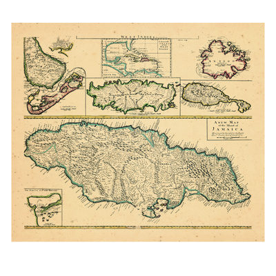 1721, Jamaica, West Indies Giclee Print