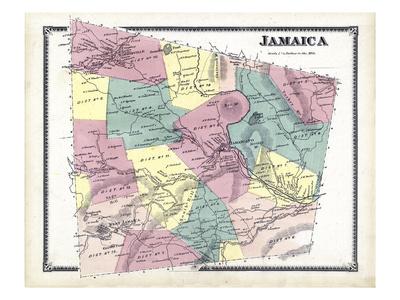 1869, Jamaica, Vermont, United States Giclee Print