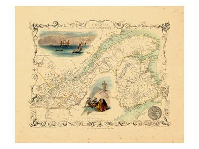 1848, Canada, Ontario, Quebec Giclee Print