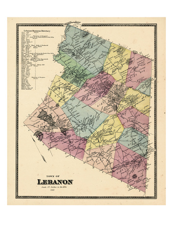 1868, Lebanon Town, Connecticut, United States Giclee Print