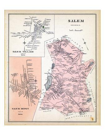 1892, Salem, Salem Village, Salem Depot, New Hampshire, United States Giclee Print