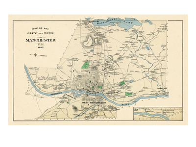 1892, Manchester 3, New Hampshire, United States Giclee Print