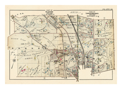1926, Villa Nova, Rosemont, Pennsylvania, United States Giclee Print