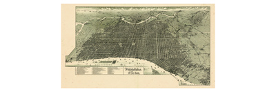 Political Map of Pocasset, MA Prints