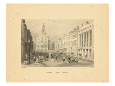 1840, Boston View of State Street, Massachusetts, United States Giclee Print