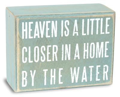 Heaven is a Little Closer Box Sign Wood Sign