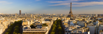 Cityscape with Eiffel Tower in Background, Paris, Ile-De-France, France Photographic Print by  Panoramic Images