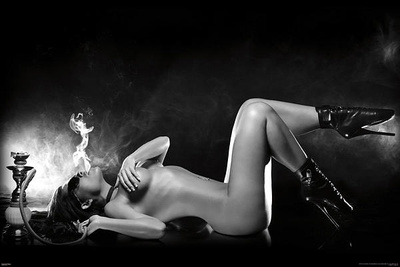 Hooka Girl Pin-Up Posters
