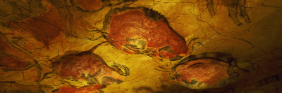 Paleolithic Paintings, Altamira Cave, Santillana Del Mar, Cantabria, Spain Photographic Print by  Panoramic Images