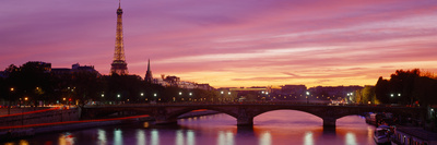 Bridge with the Eiffel Tower in the Background, Pont Alexandre Iii, Seine River, Paris, Ile-De-F... Photographic Print by  Panoramic Images