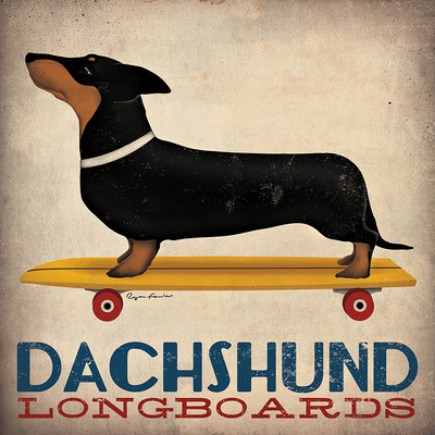 Dachshund Longboards Posters by Ryan Fowler