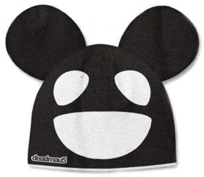 Beanie: Deadmau5 - Black/White Mouse Beanie