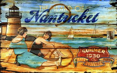Nantucket Vintage Wood Sign