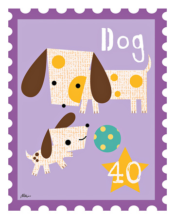 Animal Stamps - Dog Posters by Jillian Phillips