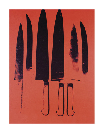 Knives, c. 1981-82 (Red) Prints by Andy Warhol