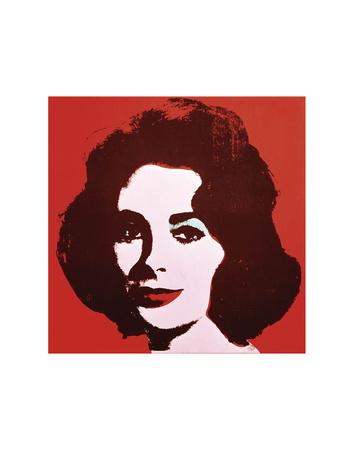 Liz, 1963 (Red) Art by Andy Warhol