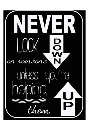 Never Look Down Art by Taylor Greene