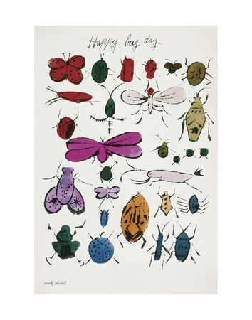 Happy Bug Day, 1954 Poster di Andy Warhol