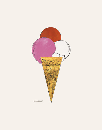 Ice Cream Dessert, c. 1959 (red, pink, and white) Posters af Andy Warhol